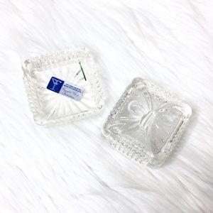 Crystal Bow Trinket Glass Box Home Decor Storage